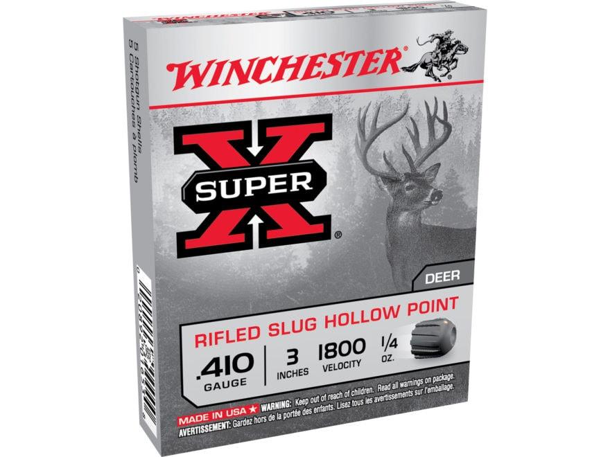"Winchester Super-X Ammunition 410 Bore 3"" 1/4 oz Rifled Slug"