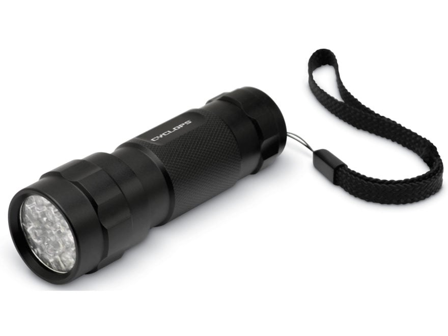 Cyclops 14 LED Flashlight with AAA Battery Aluminum Black Package of 2