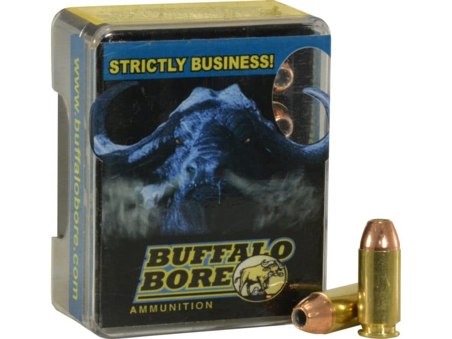 Buffalo Bore Ammunition Outdoorsman 40 S&W +P 155 Grain Jacketed Hollow Point Box of 20