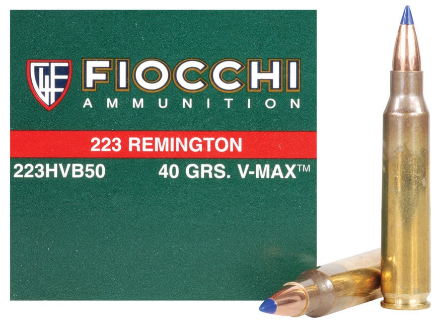 Fiocchi Extrema Ammunition 223 Remington 40 Grain Hornady V-MAX Ammunition