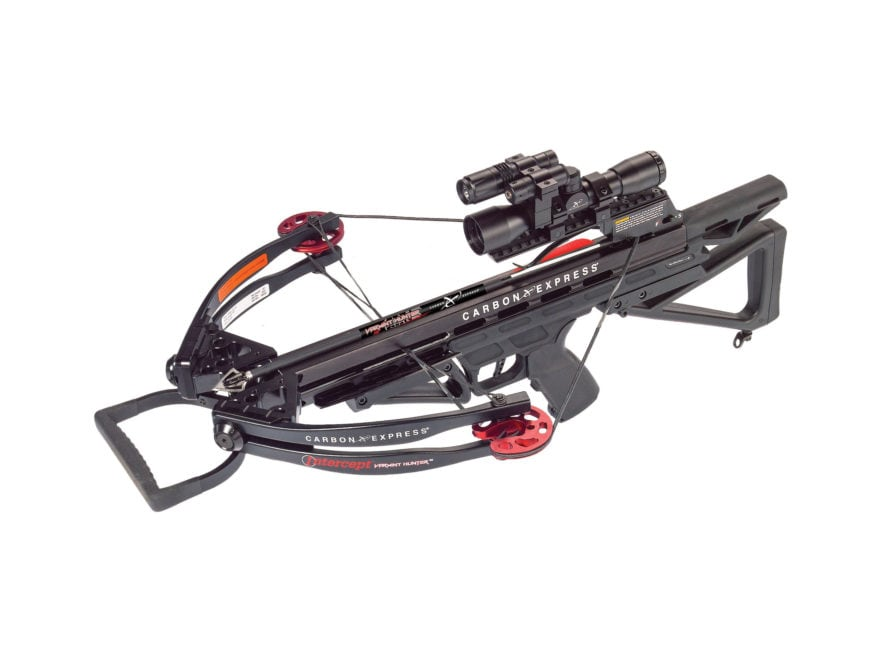 Carbon Express Intercept Varmint Hunter Crossbow Package with 4x32 Scope Black
