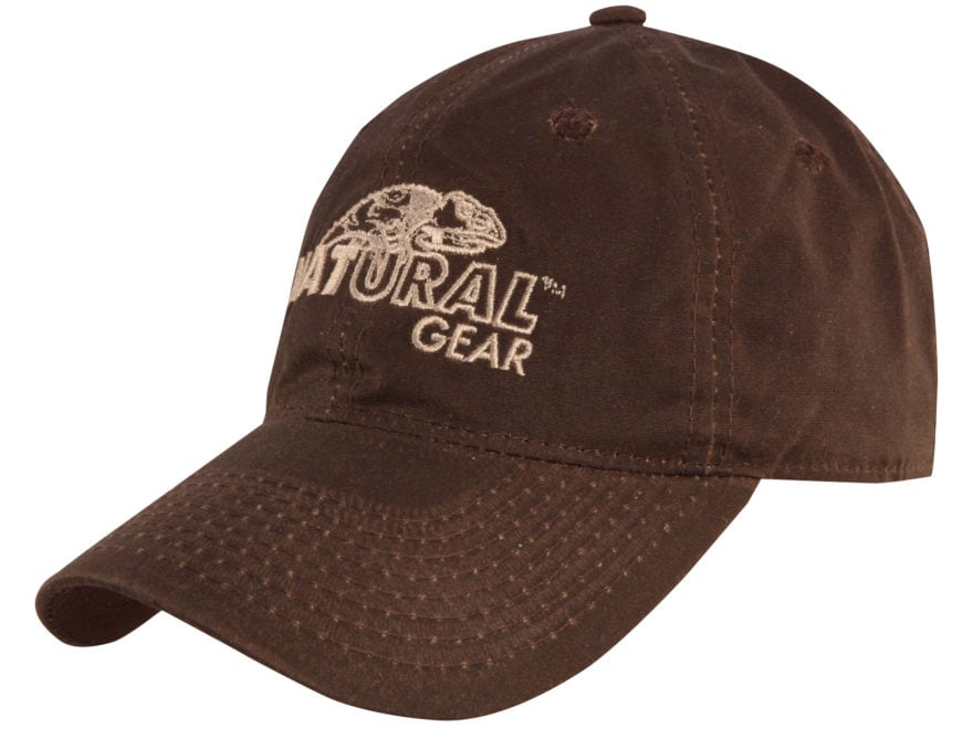 149979e0ac1 Natural Gear Waxed Logo Cap Brown - MPN  211-OSFM