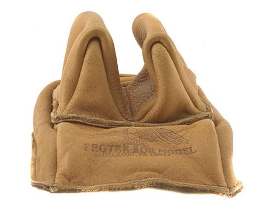 Protektor Rabbit Ear Rear Shooting Rest Bag Leather Tan Unfilled