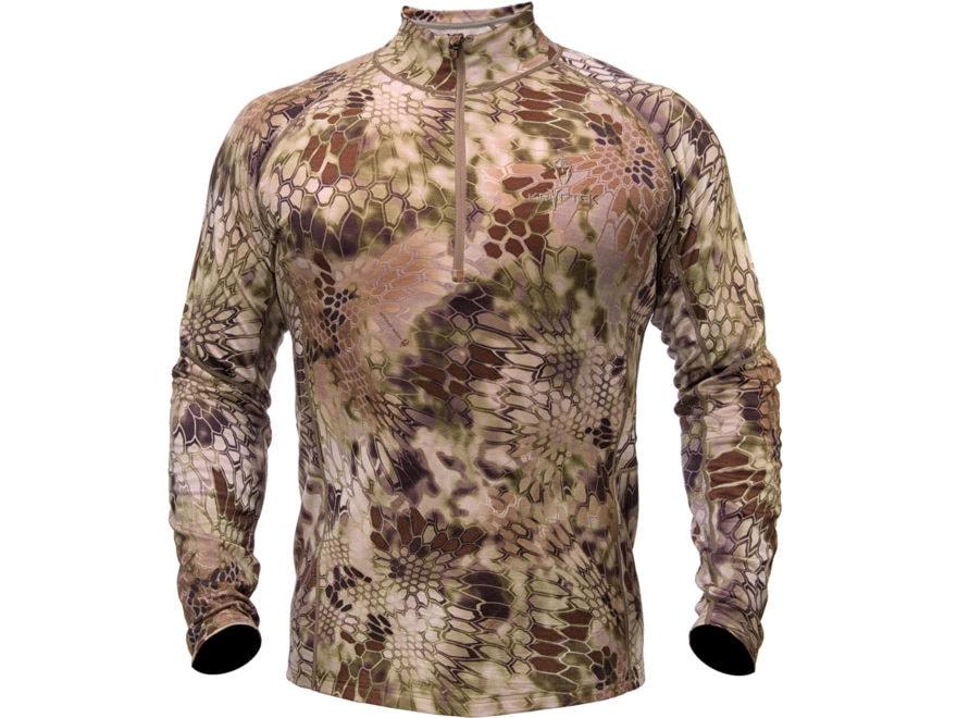 Kryptek Men's Hoplite II Midweight 1/4 Zip Base Layer Shirt Long Sleeve Merino Wool Hig...