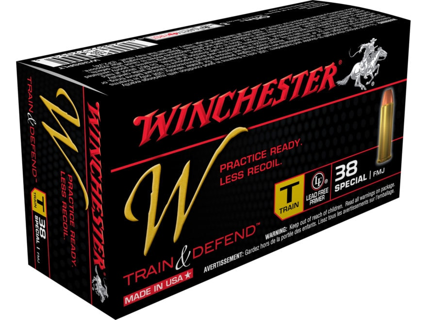Winchester W Train Reduced Recoil Ammunition 38 Special 130 Grain Full Metal Jacket