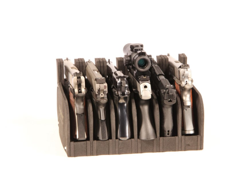 HySkore 6 Gun Modular Pistol Rack Closed Cell High Density Foam Black