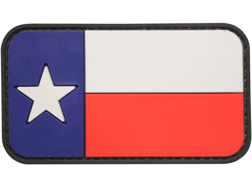 """5ive Star Gear Texas Flag PVC Morale Patch Red, White, and Blue 2"""" x 3"""""""