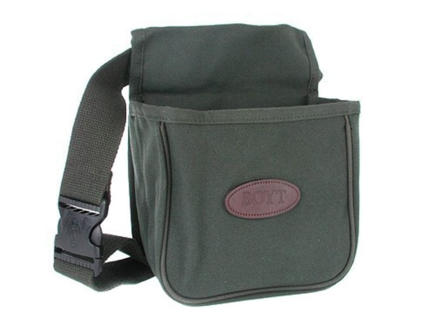 Boyt Divided Shotgun Shell Pouch with Belt Canvas Green