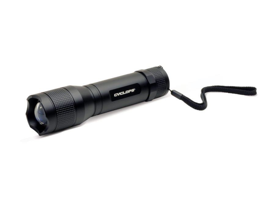 Cyclops TF-1500 Lumen Flashlight LED with 6 AA Batteries Aluminum Black