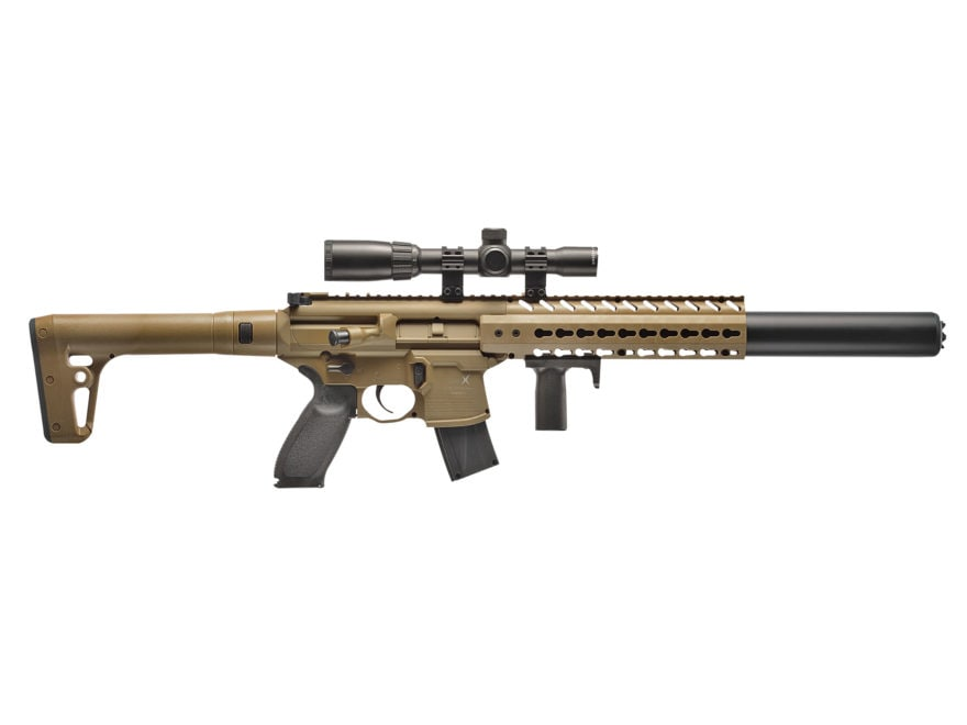 sig sauer mcx co2 177 cal pellet air rifle red dot upc 798681529346