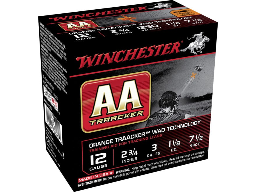 """Winchester AA Heavy TrAAcker Ammunition 12 Gauge 2-3/4"""" 1-1/8 oz #7-1/2 Shot"""