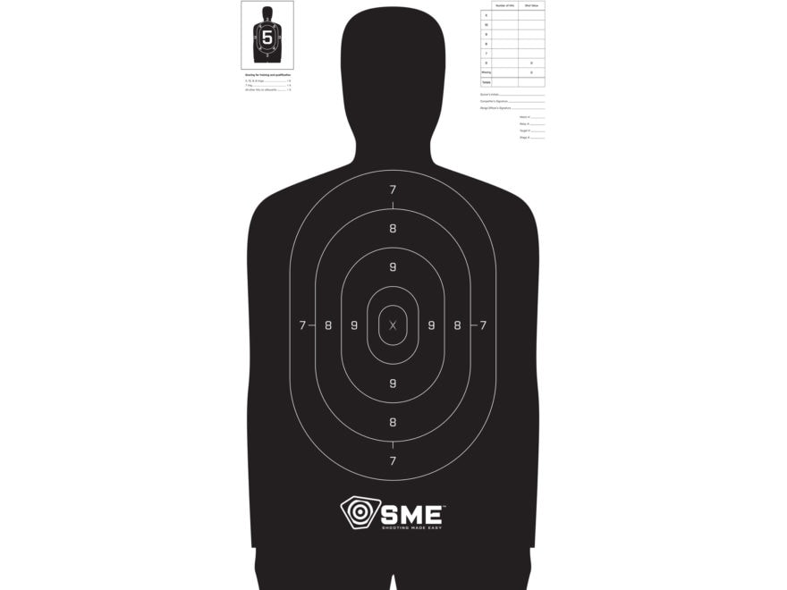 SME Silhouette Target Package of 100