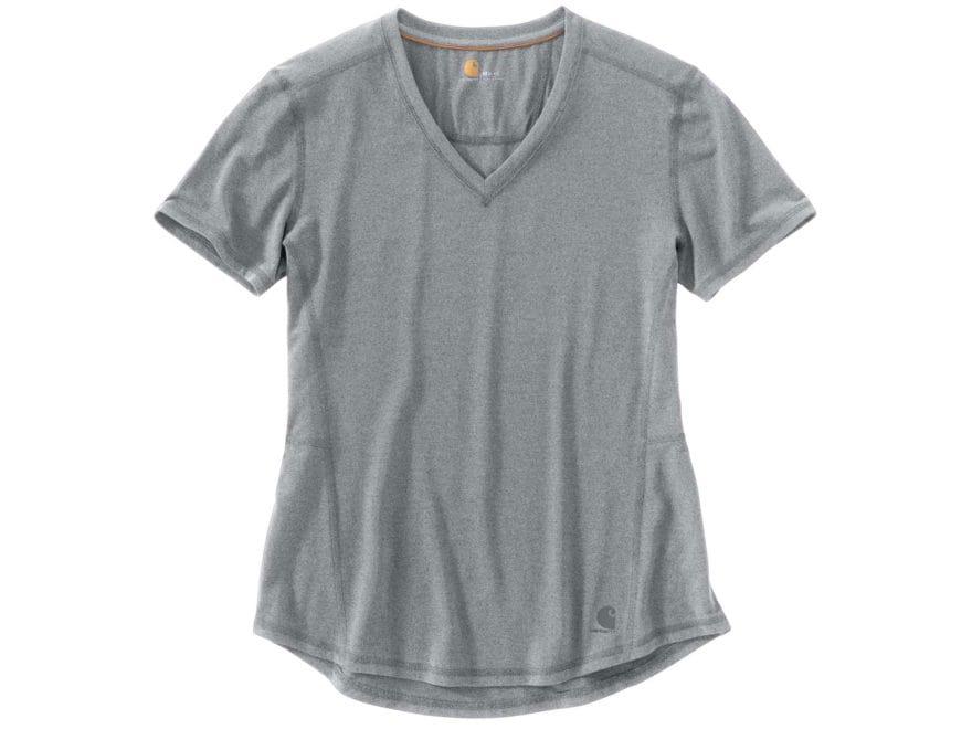 Carhartt Women's Force Ferndale T-Shirt Short Sleeve Shirt Polyester/Cotton Asphalt Hea...