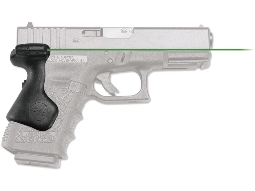 Crimson Trace Lasergrips Glock Gen-3, Gen-4, Gen-5 Rear Activation Polymer Black