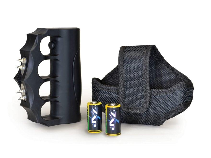 ZAP Blast Knuckle Extreme 950,000 Volt Stun Gun with 2 CR123A Batteries Polymer Black