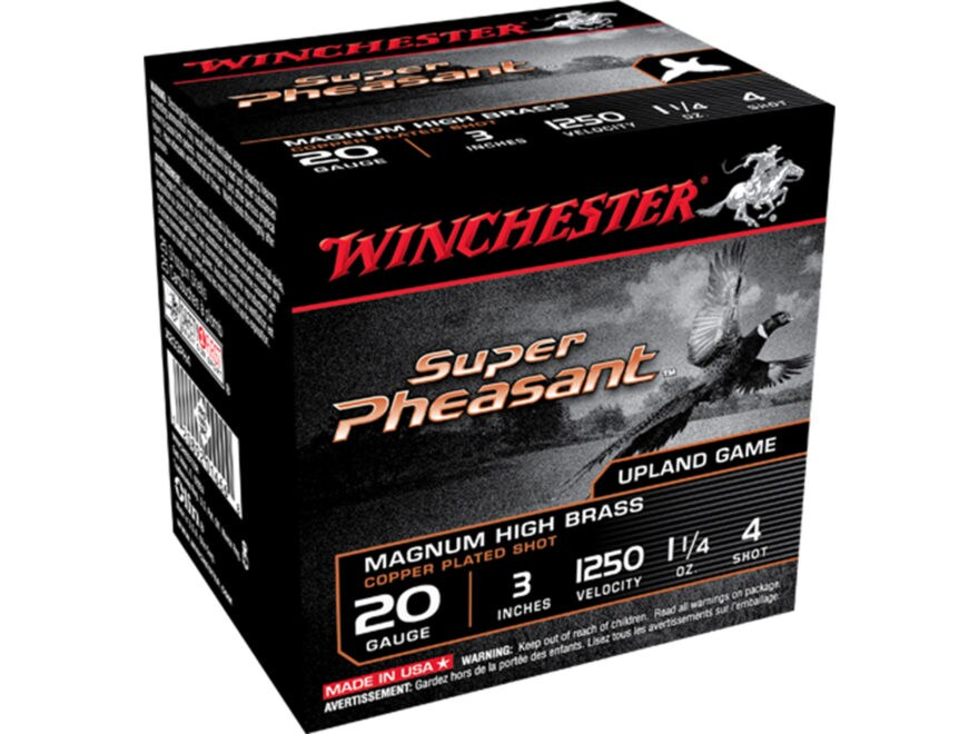 Winchester Super-X Super Pheasant Ammunition 20 Gauge Copper Plated Shot