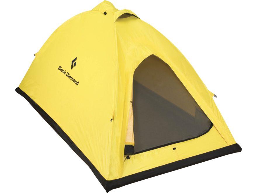 "Black Diamond Equipment Eldorado 2 Person Dome Tent 87"" x 51"" x 43"" Toddtex Fabric Yellow"