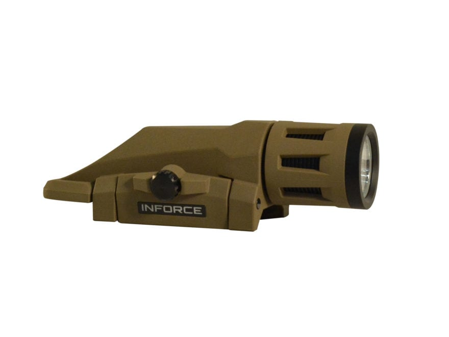 Inforce WML Gen2 Tactical Strobing Weaponlight White/IR LED with 1 CR123A Battery Fits ...