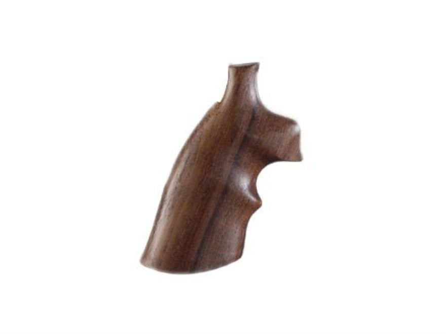 Hogue Fancy Hardwood Grips with Top Finger Groove S&W K, L-Frame Square Butt