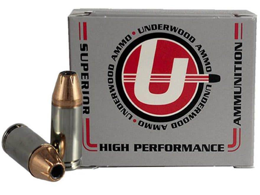 Underwood Ammunition 9mm Luger +P 147 Grain Jacketed Hollow Point Box of 20