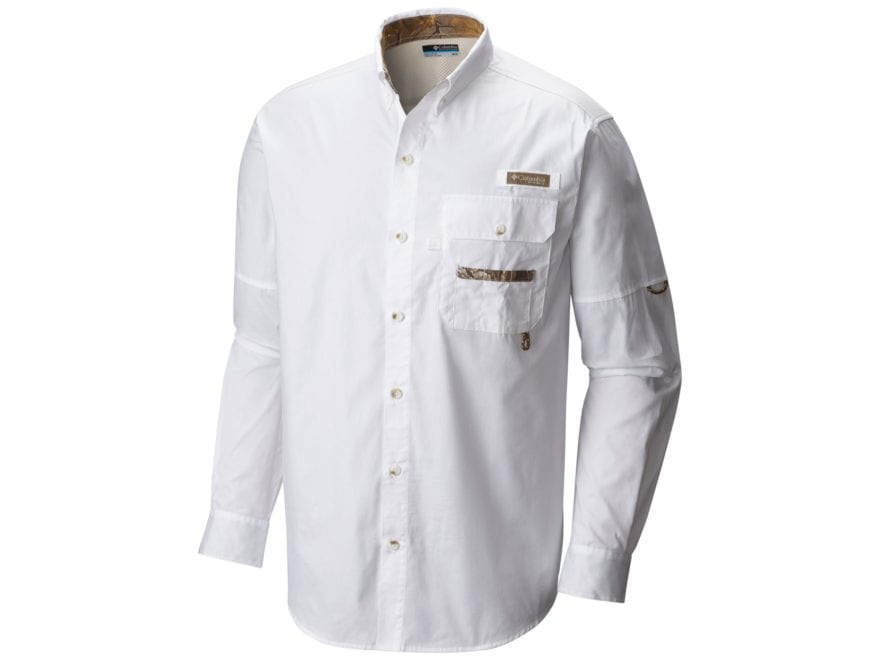 Columbia Men's PHG Sharptail Button-Up Shirt Long Sleeve Cotton