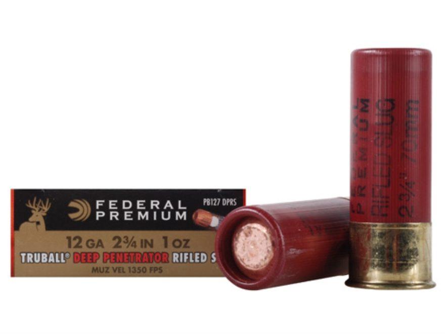 "Federal Premium Vital-Shok Ammunition 12 Gauge 2-3/4"" 1 oz Deep Penetrator TruBall Holl..."
