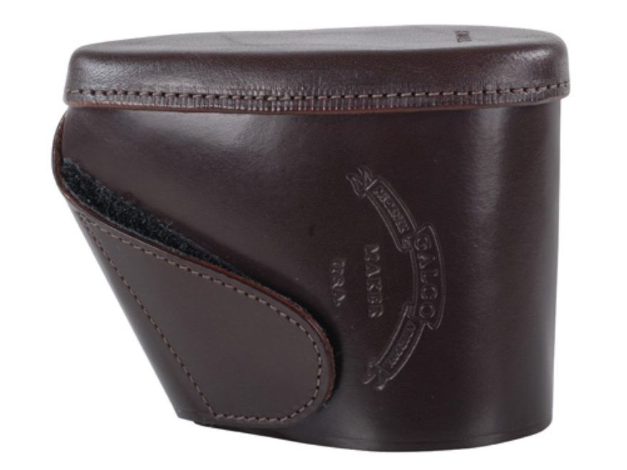 """Galco Recoil Pad Slip-On 5"""" x 1-1/2"""" x 1/2"""" Thick Leather Brown"""