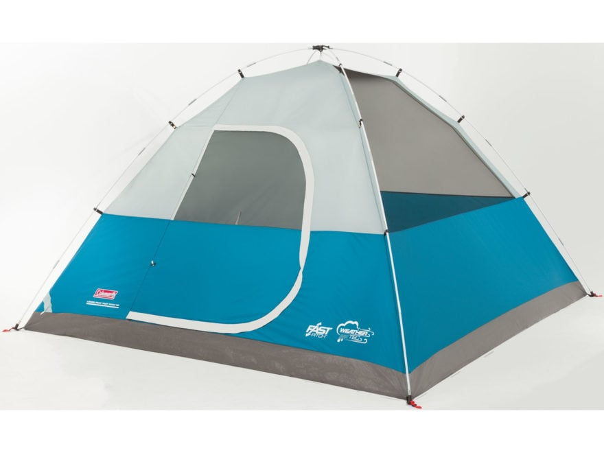 "Coleman Long Peak Fast Pitch 6 Man Dome Tent 120""x120""x72"" Polyester Blue and White"