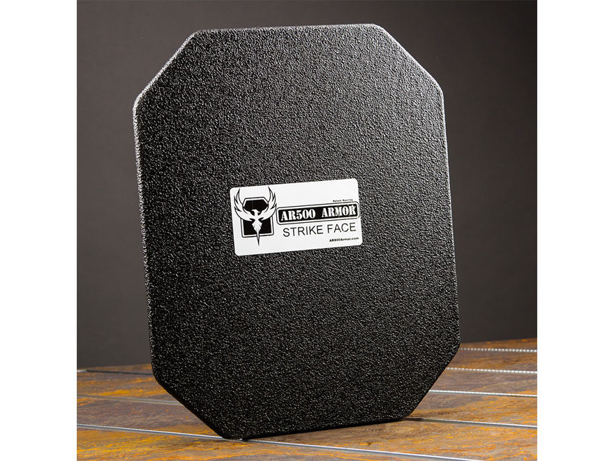 "AR500 Body Armor Stand Alone Lightweight Ballistic Plate III+ Back Plate Square Cut 10""..."