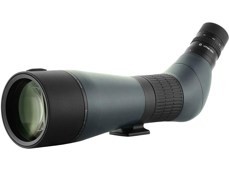 Athlon Optics Ares ED Spotting Scope 20-60x 85mm Angled Body Green