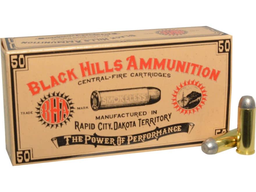 Black Hills Cowboy Action Ammunition 45 Colt (Long Colt) 250 Grain Round Nose Flat Poin...