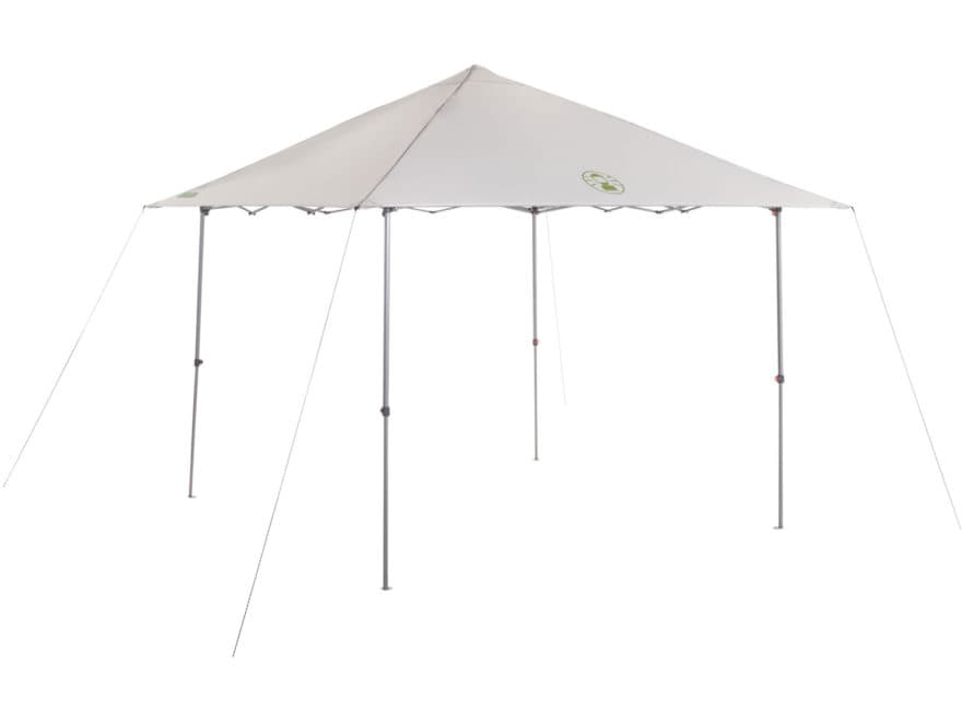 "Coleman Light and Fast 120"" x 120"" Instant Sun Shelter Polyester White and Green"