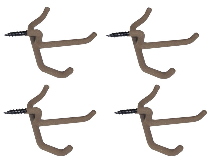 HME Triple Accessory Hanger Steel Brown Pack of 4