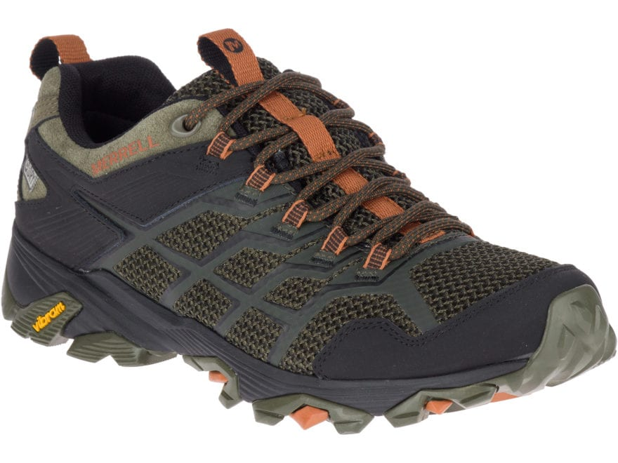 "Merrell Moab FST 2 4"" Waterproof Hiking Shoes Leather/Synthetic Men's"