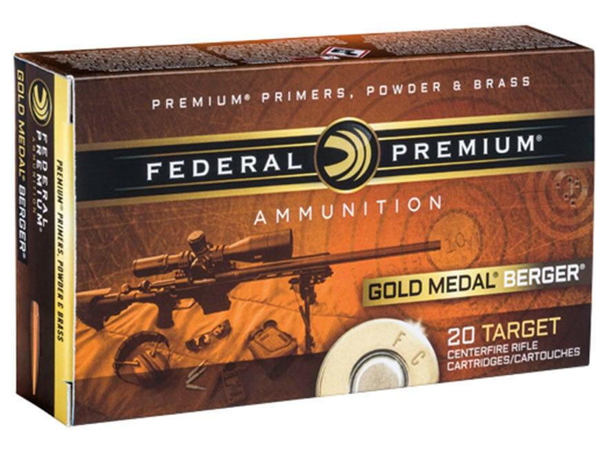 Federal Premium Gold Medal Berger Ammunition 223 Remington 73 Grain Berger Hollow Point...