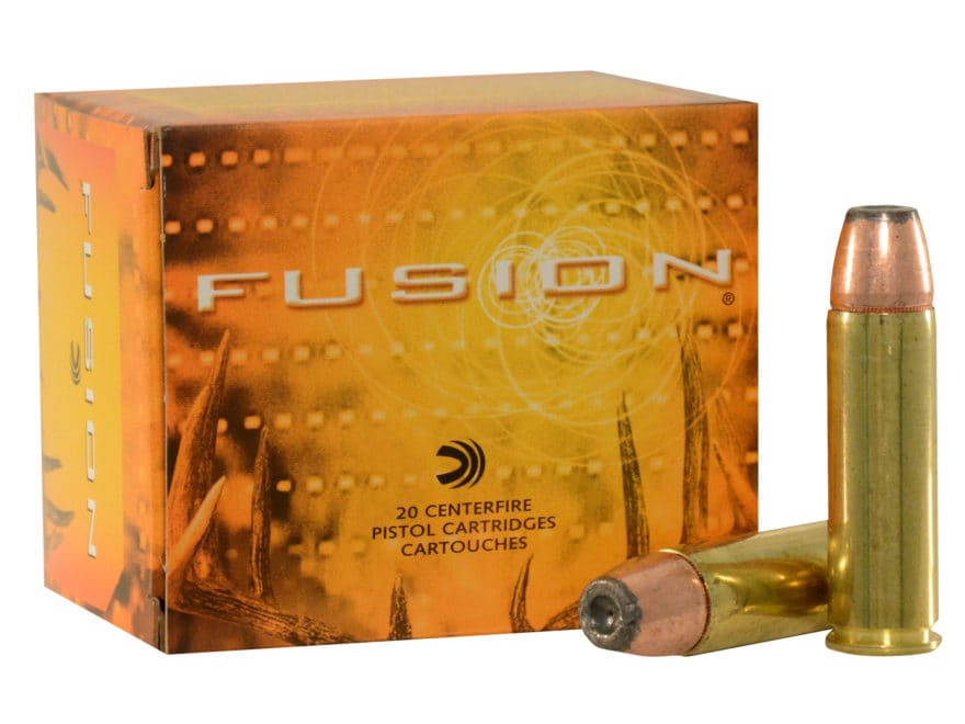 Federal Fusion Ammunition 500 S&W Magnum 325 Grain Jacketed Hollow Point