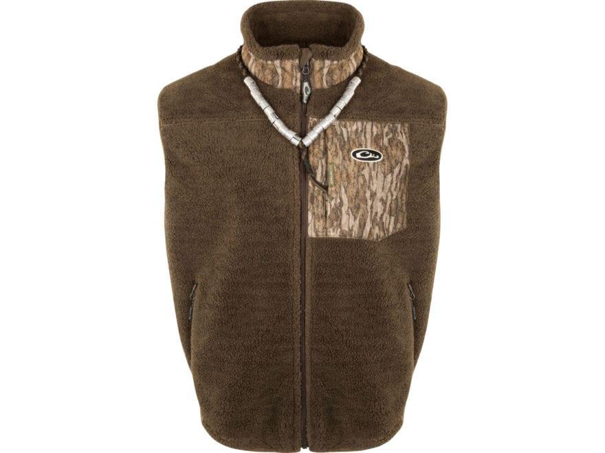 Drake Men's Sherpa Fleece Hybrid Liner Vest Polyester