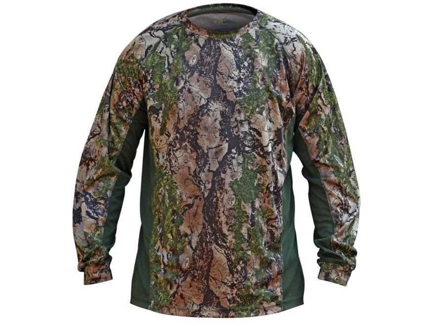 Natural Gear Men's Cool-Tech Performance Shirt Long Sleeve Polyester Natural Gear SC II...