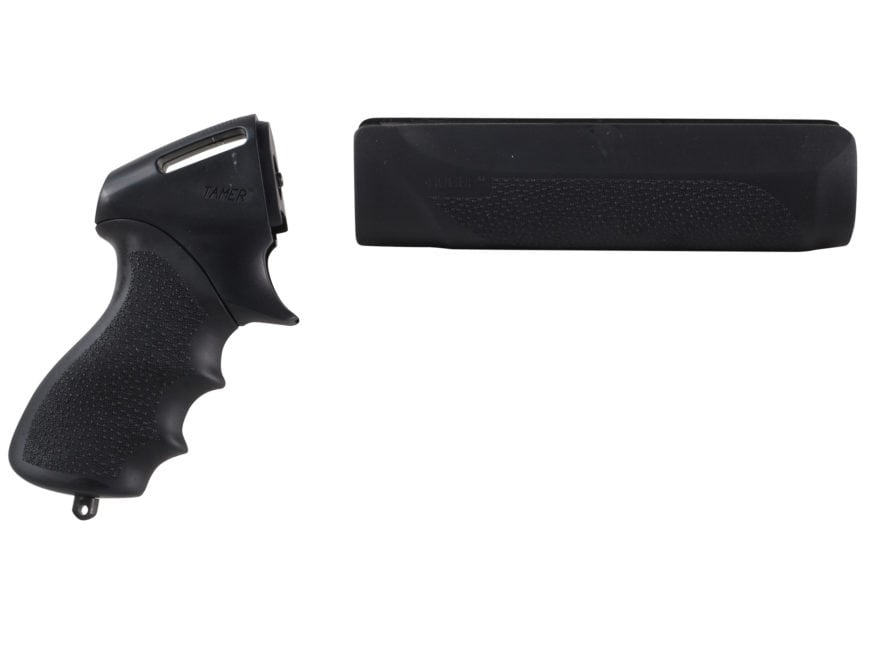 Hogue Rubber OverMolded Tamer Pistol Grip and Forend Remington 870 12 Gauge Synthetic B...