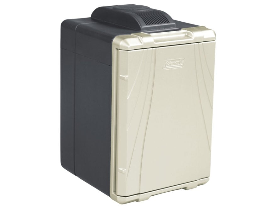 Coleman 40 Qt Powerchill Thermoelectric Cooler 12 or 120 Volt Black and Beige