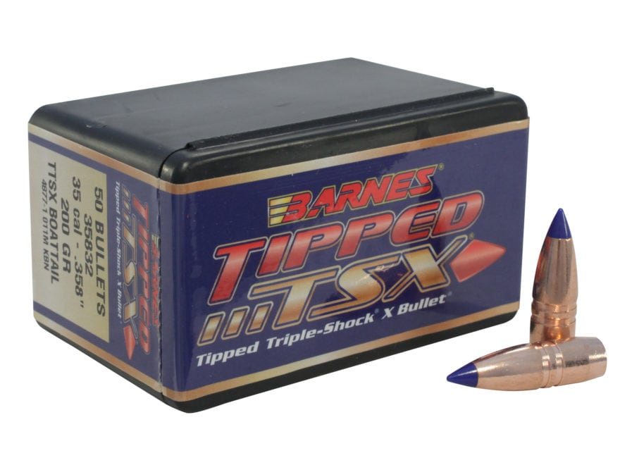 Barnes Tipped Triple-Shock X (TTSX) Bullets 35 Caliber (358 Diameter) 200 Grain Spitzer...