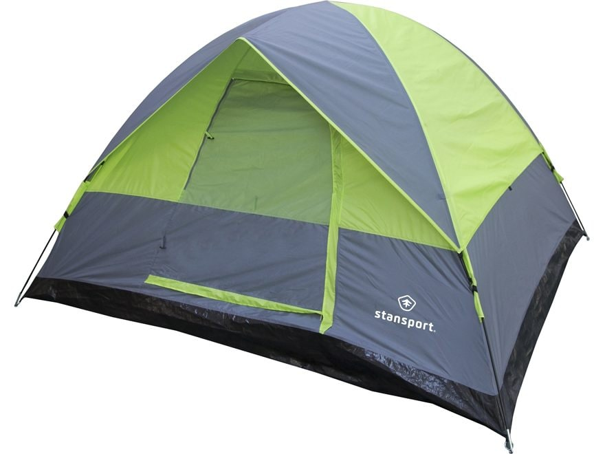 "Stansport Cedar Creek Dome Tent 96"" X 84"" X 54"" Polyester Green and Gray"