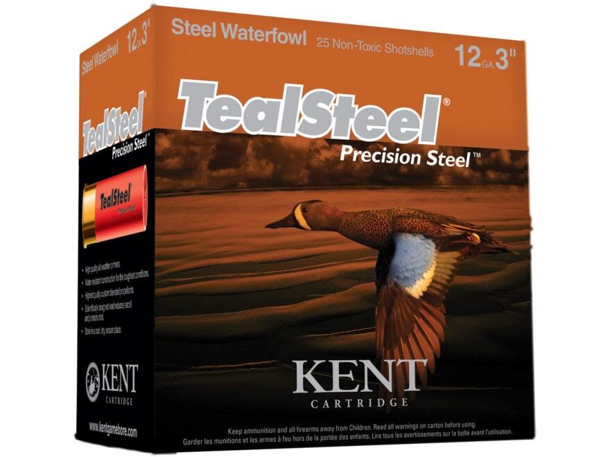 """Kent Cartridge TealSteel Precision Steel Waterfowl Ammunition 12 Gauge 3"""" 1-1/4 oz #5 N..."""