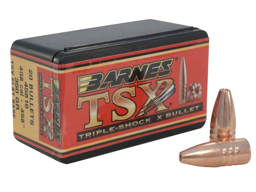 Barnes Triple-Shock X (TSX) Bullets 458 Caliber (458 Diameter) 350 Grain Hollow Point F...
