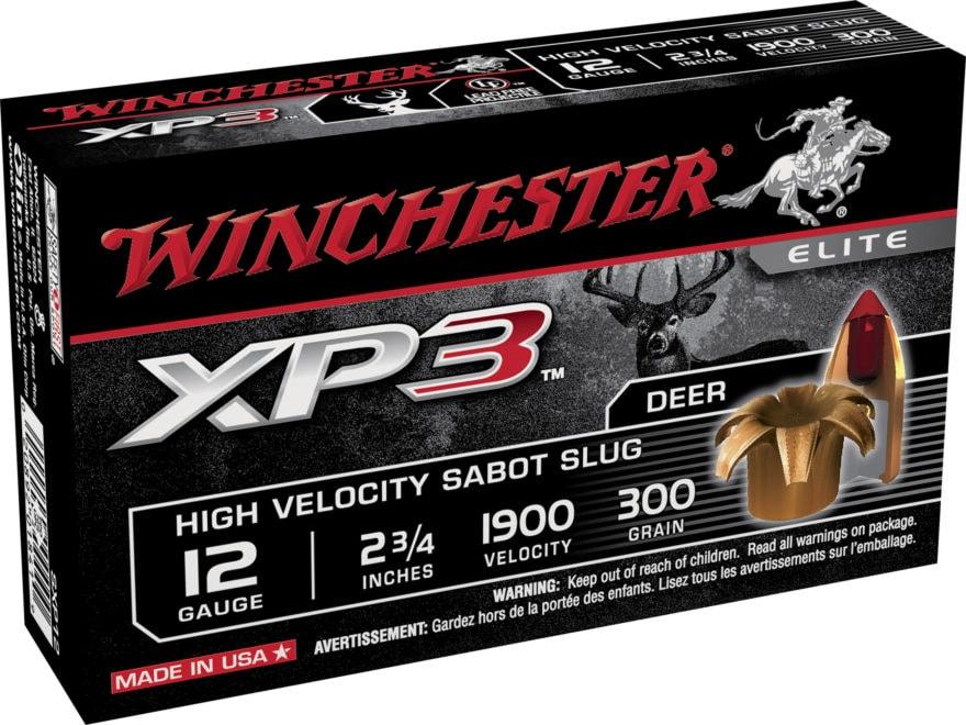 "Winchester XP3 Ammunition 12 Gauge 2-3/4"" 300 Grain Sabot Slug Lead-Free"