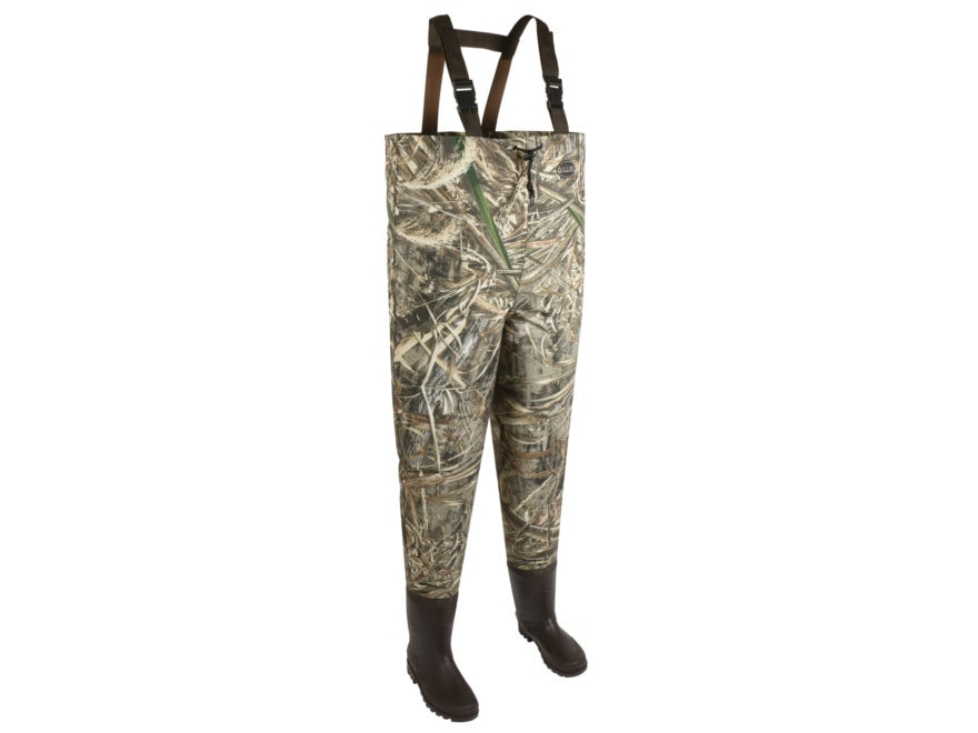 Allen Ridgeway Uninsulated Chest Waders Polyester and Rubber Realtree Max-5