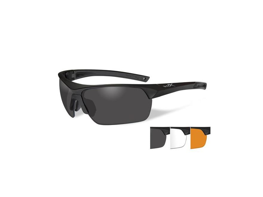 Wiley X Guard Advanced Changeable Series Safety Sunglasses Matte Black Frame Smoke Gray...