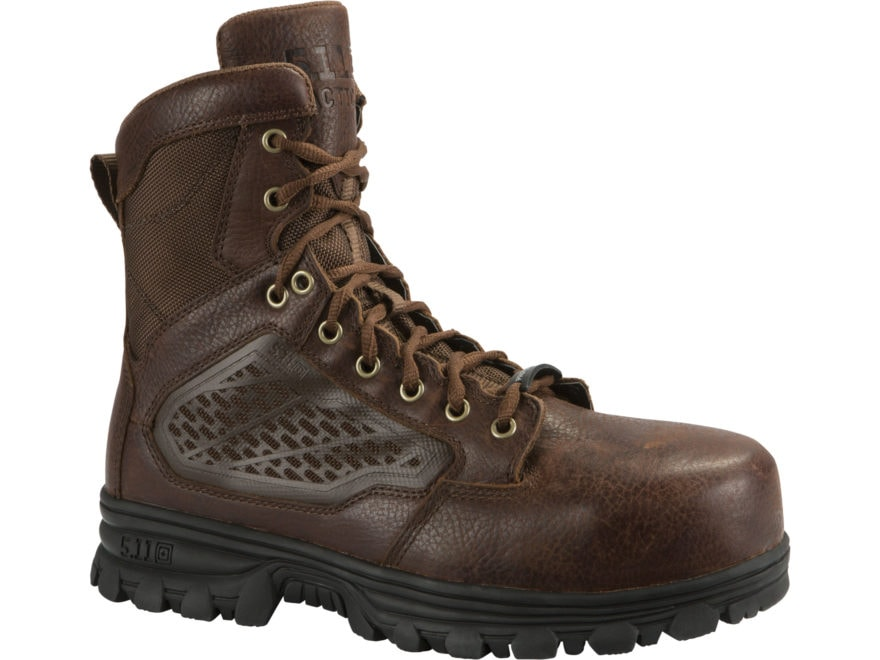 """5.11 EVO 6"""" CST Composite Safety Toe Tactical Boots Leather Bison Men's"""