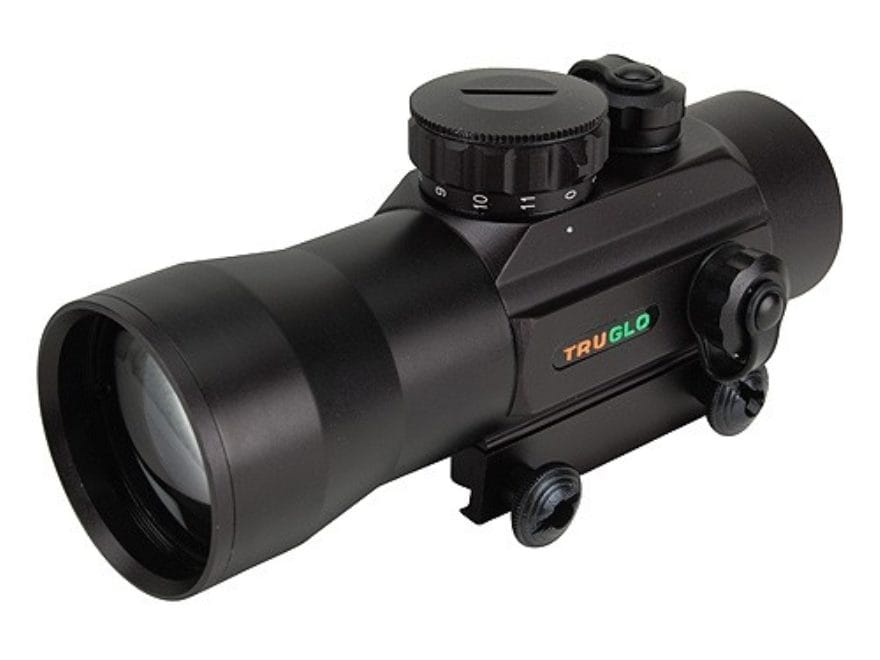 TRUGLO Red Dot Sight 42mm Tube 2x 2.5 MOA Dot with Integral Weaver-Style Base
