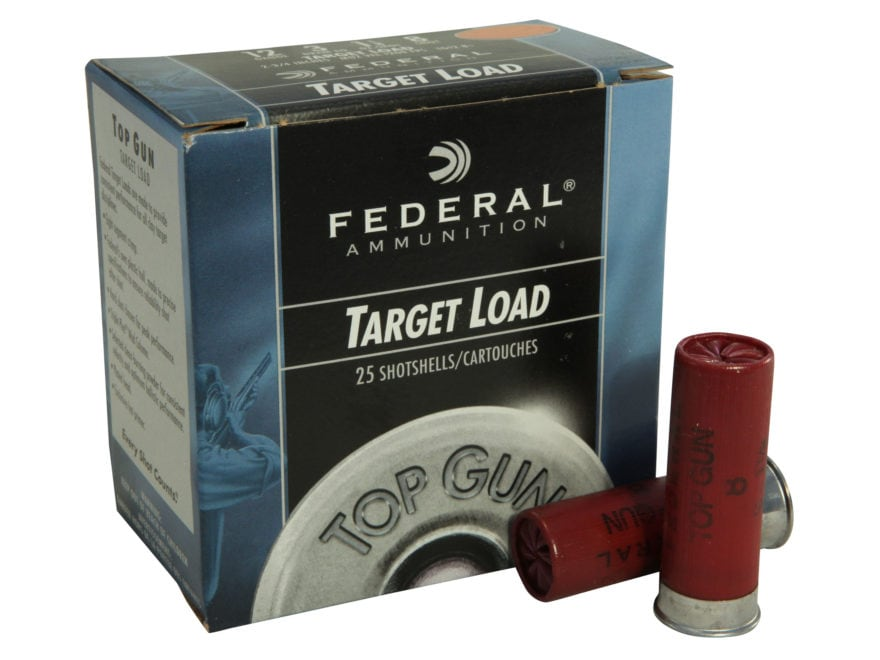 "Federal Top Gun Ammunition 12 Gauge 2-3/4"" 1-1/8 oz"